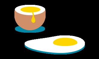 Pasteurisierte Eier